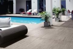 Carrelage design terrasse piscine Pays de Gex