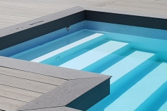 Carrelage terrasse piscine Megeve